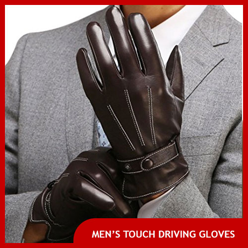 Men's Touch Screen Driving Gloves
