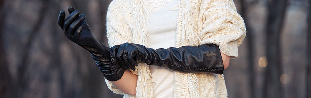 Fashionable Leather Touch Screen Gloves for Women