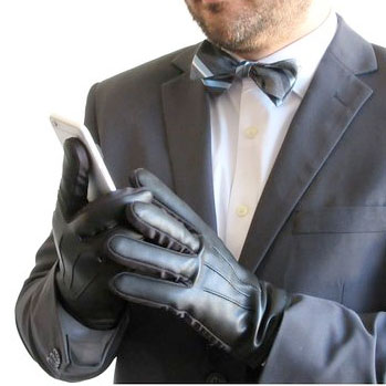 The Italian Nappa touchscreen gloves for men are professionally stitched with genuine, water-resistant leather, and pack a cashmere inner lining that insulates against chilly winds. Harrms claims.