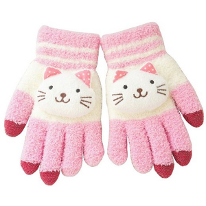 pink-cat-texting-gloves