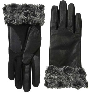 isotoner-leather-fur-gloves