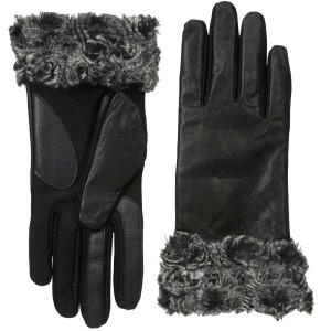 isotoner-leather-fur-gloves