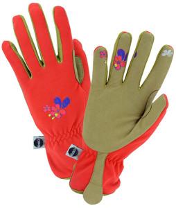 womens miracle gro orange texting gloves
