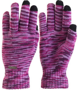Trailheads Women's Knit Purple Touch Screen Gloves