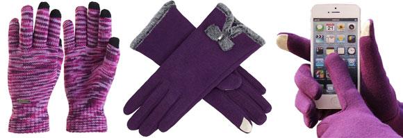 Women's Purple Touch Screen Gloves