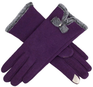 IL Caldo Women's Screentouch Purple Gloves