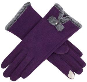 IL Caldo Women's Screentouch Purple Gloves