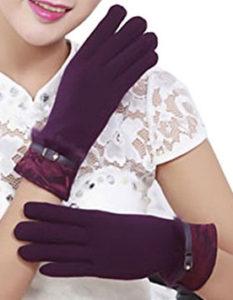 Aircee Women's Velvet Winter Texting Gloves