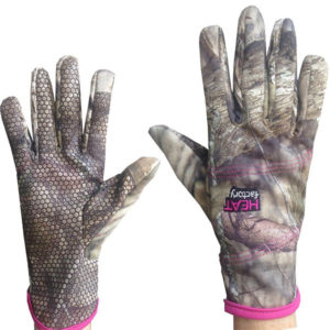 Heat Factory Women's Fleece Camo Touch Screen Gloves