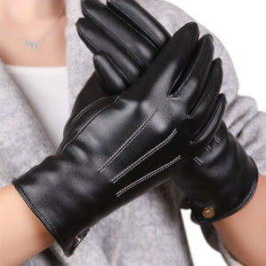 Warmen's Faux Leather Driving Glove