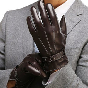Harm's Leather Men's Touch Screen Driving Gloves