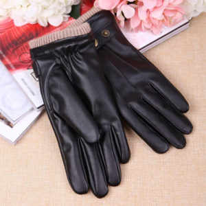 Warmen Faux Leather Tech Driving Gloves